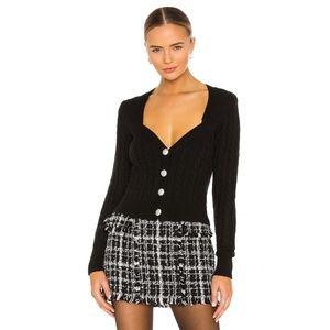 NWT Ronny Kobo Jaelyn Black Knit Cardigan Top S